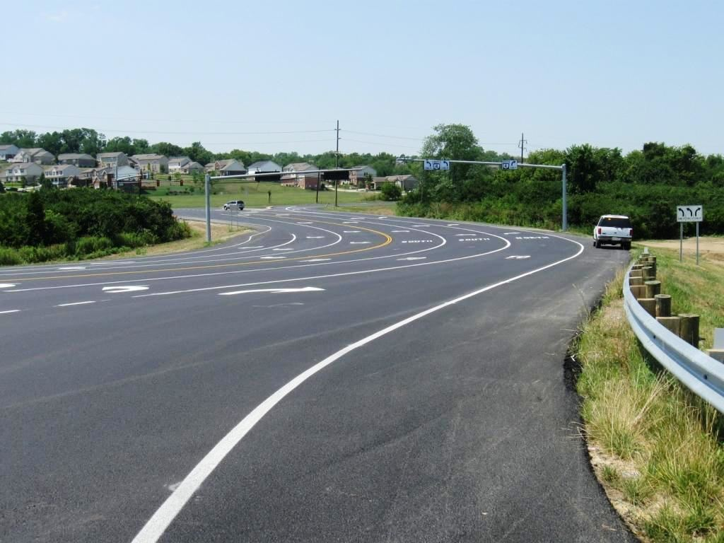 Finished: Diversion Road looking toward Route 4