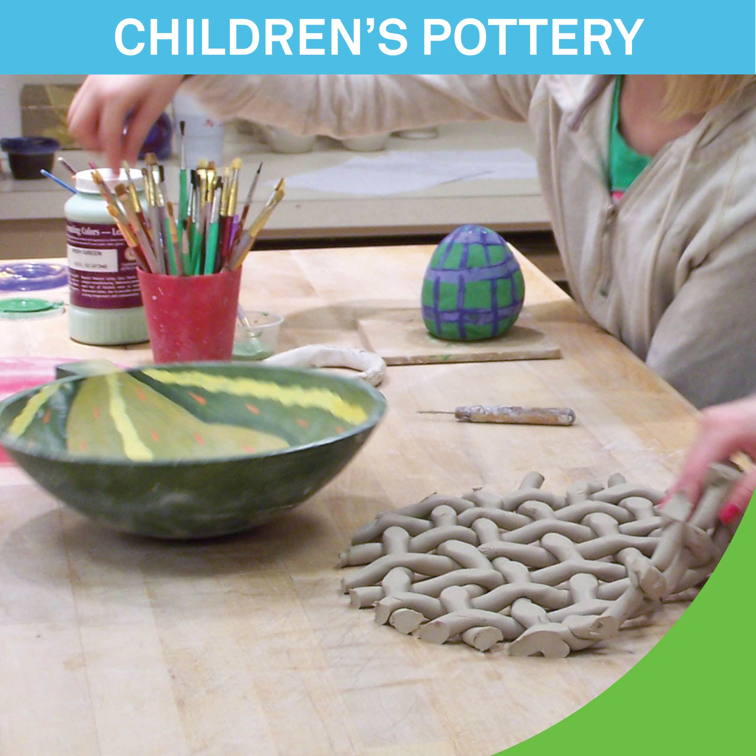 childrens pottery class offered
